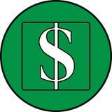 3d抽象背景美元图标例证查出白色 库存例证