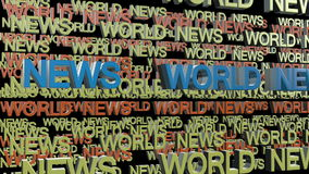 3d抽象背景蓝色图象新闻照片回报世界 免版税图库摄影