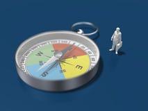 3D指南针的例证 免版税图库摄影