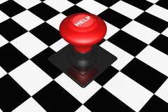 3d按钮通信概念帮助 免版税图库摄影