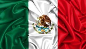 3d挥动在风的墨西哥的旗子 免版税库存照片