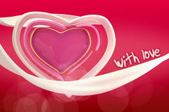 3d提取爱的心脏在梯度背景的 免版税库存照片