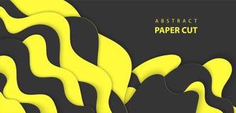 3D提取纸艺术样式,企业介绍的设计版面,飞行物,海报,印刷品,装饰,卡片,小册子盖子 向量例证