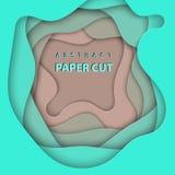 3D提取纸艺术样式,企业介绍的设计版面,飞行物,海报,印刷品,装饰,卡片,小册子盖子 库存例证