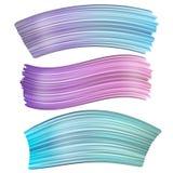 3d摘要画笔冲程 套五颜六色的液体油漆冲程 库存例证