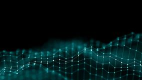 3d摘要背景网络概念 未来背景技术例证 3d横向 大数据 Wireframe 免版税库存图片