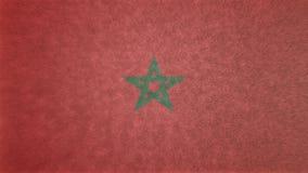 3D摩洛哥的原始的旗子图象 向量例证