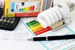 3d效率能源照片回报了 免版税库存图片