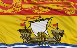 3D新不伦瑞克旗子 免版税图库摄影