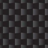 3d方形的无缝的样式黑色 库存例证