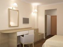 3D旅馆室内设计的形象化 免版税库存图片