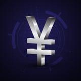 3d日本日元货币符号 免版税库存图片