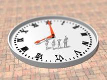 3D时间表的例证 免版税库存照片