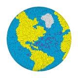 3D映象点地球 向量例证