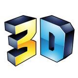 3d显示技术标志 库存图片