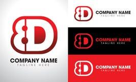 8D最初Lettermark标志商标设计 免版税图库摄影