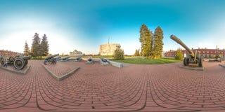 3D有360视角的球状全景 为虚拟现实或VR准备 充分的equirectangular投射 布雷斯特fortness 图库摄影