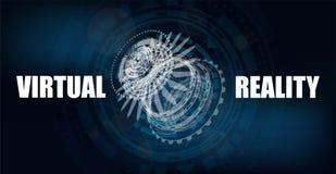 3D未来派技术横幅 皇族释放例证