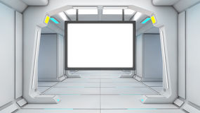 3d未来派屏幕 免版税库存照片