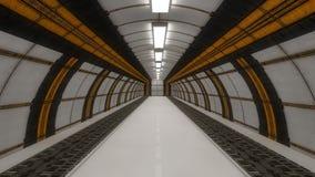 3d未来派的走廊 免版税库存照片