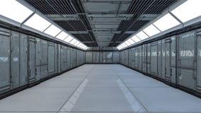 3d未来派的走廊 免版税图库摄影
