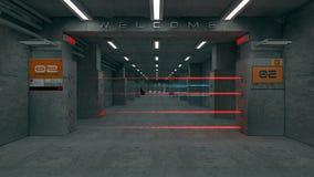 3d未来派建筑学 库存图片