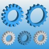 3D机械齿轮 免版税库存照片