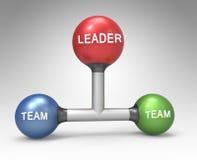 3d构想领导难题 库存图片