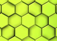 3d柠檬六角形的图象 库存例证
