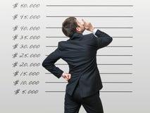 3d查出的事业概念回报白色 商人考虑经营战略 免版税库存照片