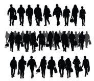 3d查出的对象人剪影 向量例证