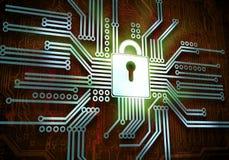 3d查出的概念使安全性空白 免版税库存图片