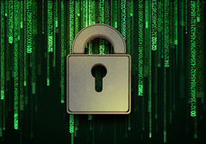 3d查出的概念使安全性空白 库存图片