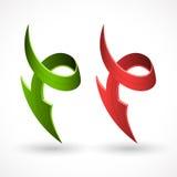 3d样式传染媒介箭头,抽象标志 免版税库存照片