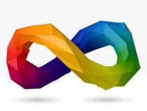 3d样式无限标志传染媒介设计 免版税库存照片