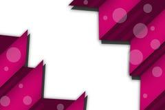 3d桃红色交叠几何形状,抽象背景 图库摄影