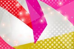 3d桃红色和蓝色六角形交叠,抽象背景 图库摄影