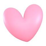 3D桃红色心脏颜色 免版税库存照片