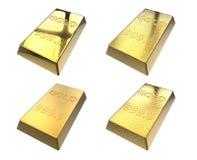 3d棒查出的金子图象回报白色 免版税库存图片