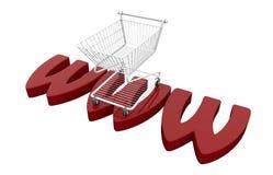 3d概念互联网回报购物 免版税库存照片