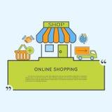 3d概念互联网回报购物 免版税库存图片