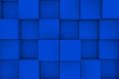 3d概念性多维数据集图象唯一墙壁 抽象背景 3d回报 免版税库存图片