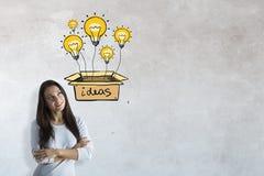 3d概念想法图象回报了 免版税库存图片