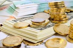 3d概念美元外汇下降的增长率 免版税库存照片