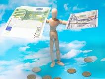 3d概念美元外汇下降的增长率 免版税库存图片