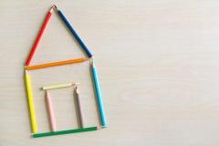 3d概念被回报的房子照片 免版税图库摄影