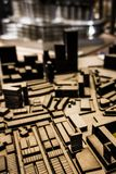 3D模型市镇计划鸟瞰图  库存照片