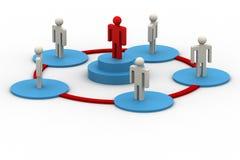 3d模型领导他的配合 免版税库存图片