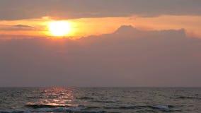 3d横向全景海运日落 影视素材