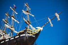 3d横向帆船日落 免版税图库摄影